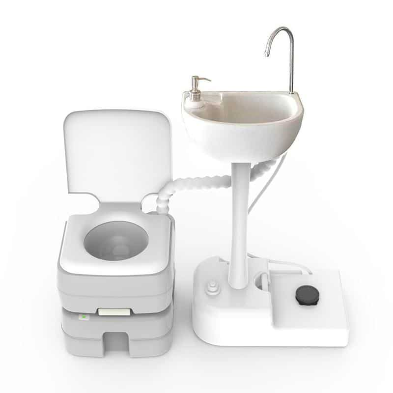 Tido Home portable toilet for camping sink combo