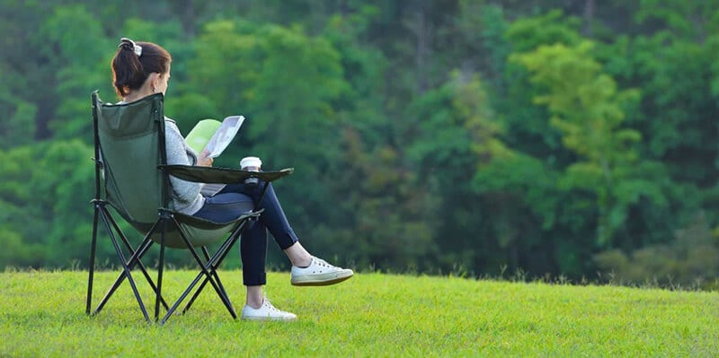 camping chair for bad back - best reclining camping chair