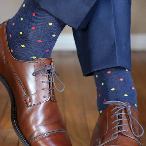 Colorful Polka Dot Dress Socks for Men