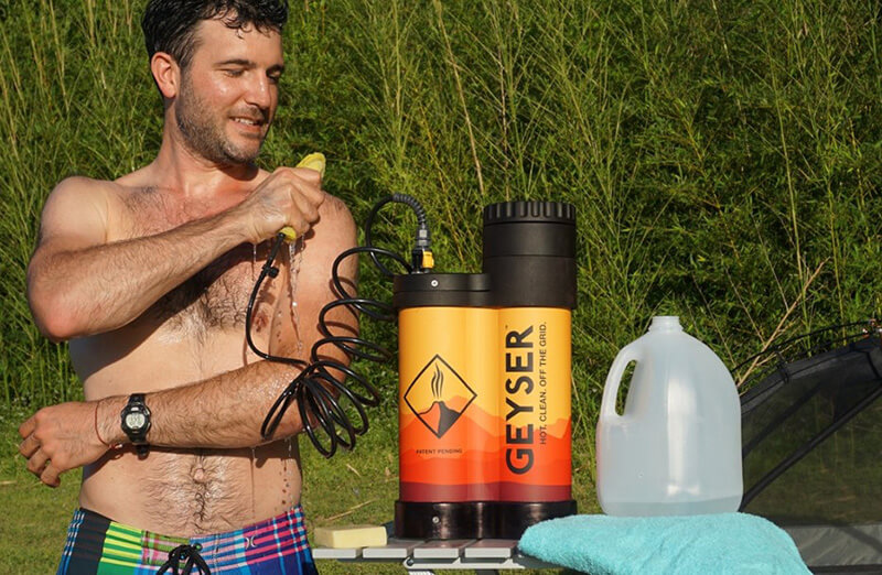 Geyser System Portable Hot Shower - what is the best portable shower for camping