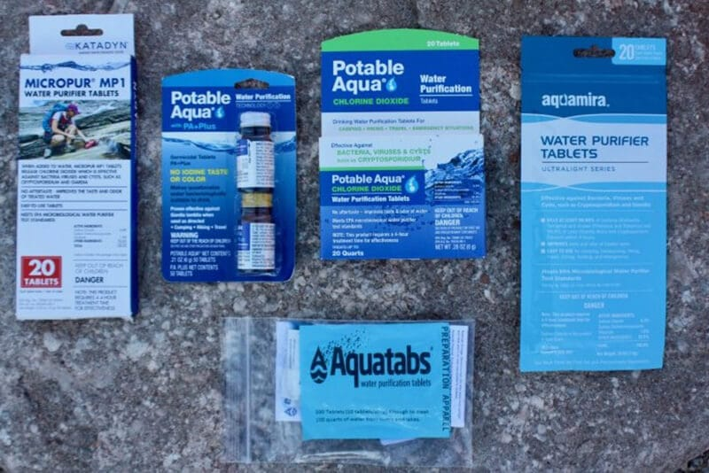 Top best water purification tablets brands