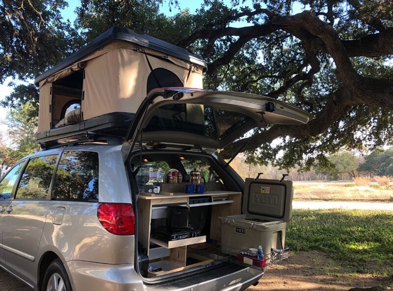 best minivan for camping