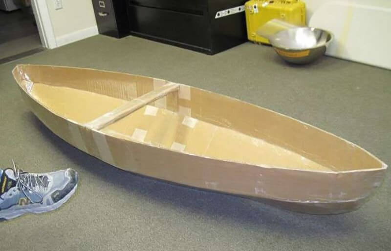 Cardboard Canoe to Your Children