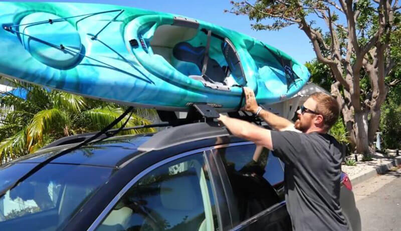 Place and Boost Kayak on Top