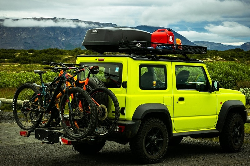 SUV trip with bikes