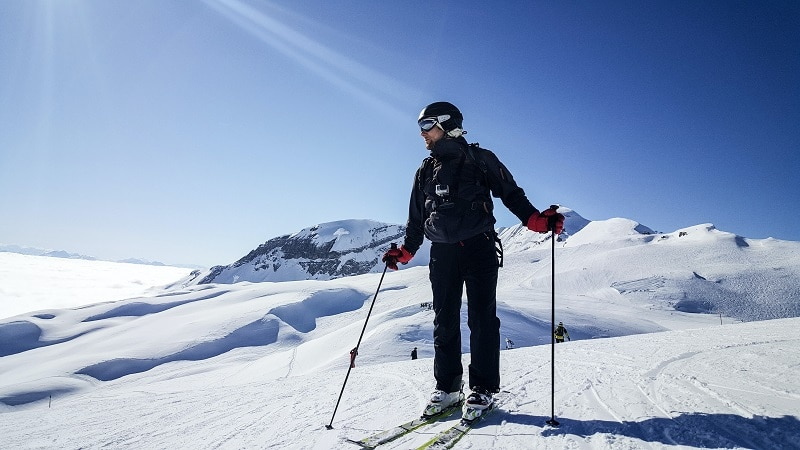skiing in Flaine