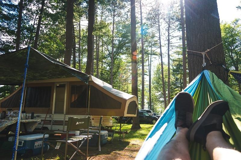 covered pop up camper