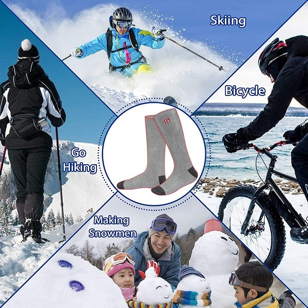 electric heated socks for winter sports and activities