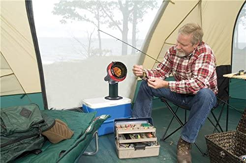 man tent camping in winter