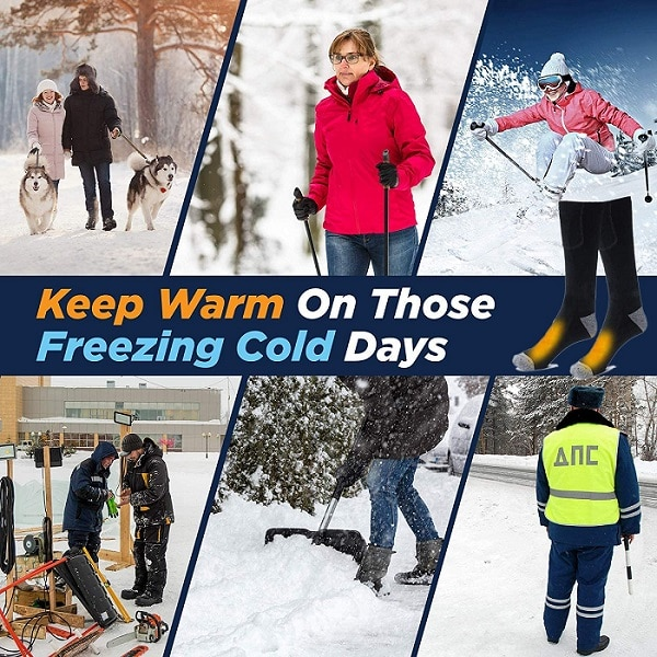 uses of electric battery heated socks for winter