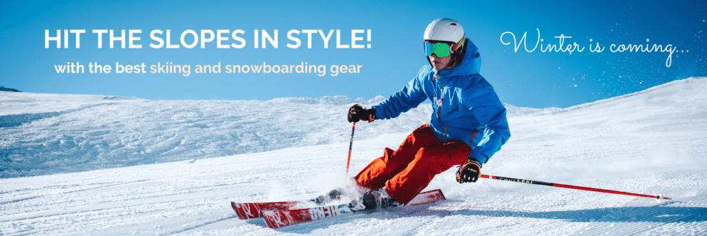 winter sports ski snowboard gear