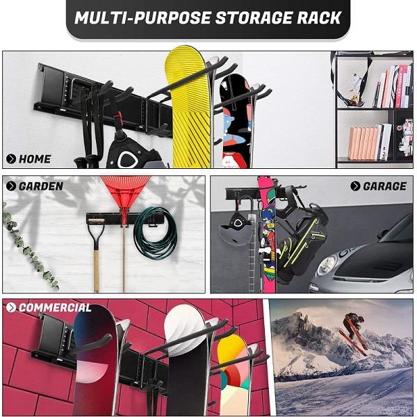 multi purpose storage rack ski snowboard