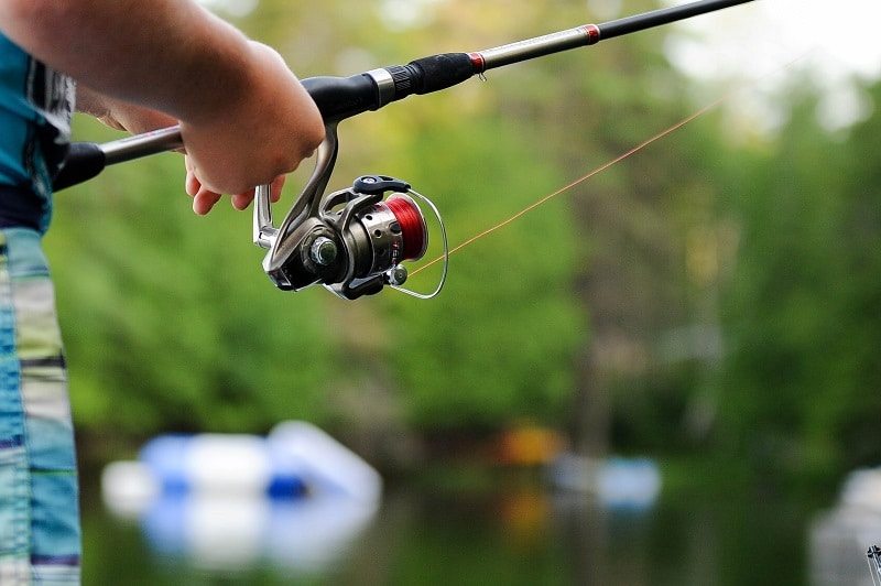 fishing with spinning reel