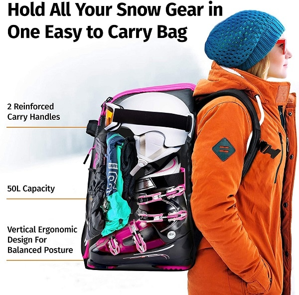 best ski boot bag features