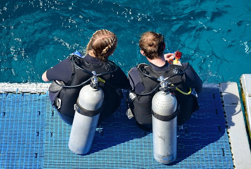 diving on australian boating holidays