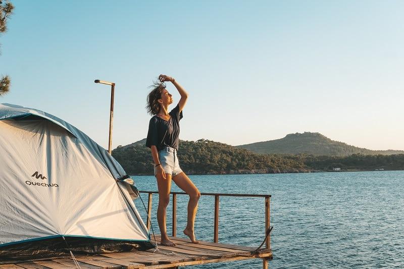 wild camping on beach in turkey
