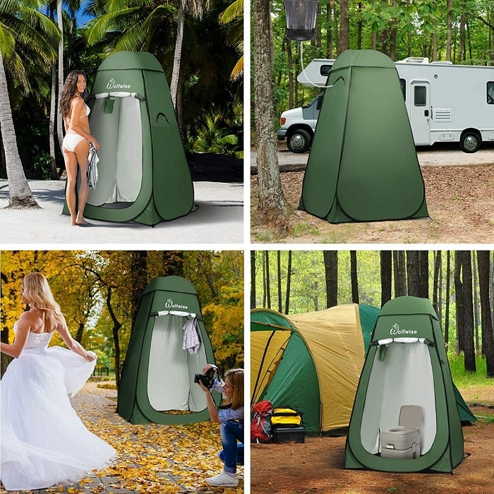 WolfWise camping shower tent