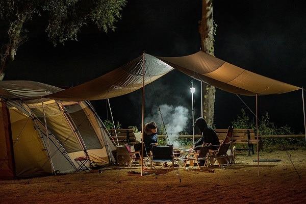 tent campsite campfire