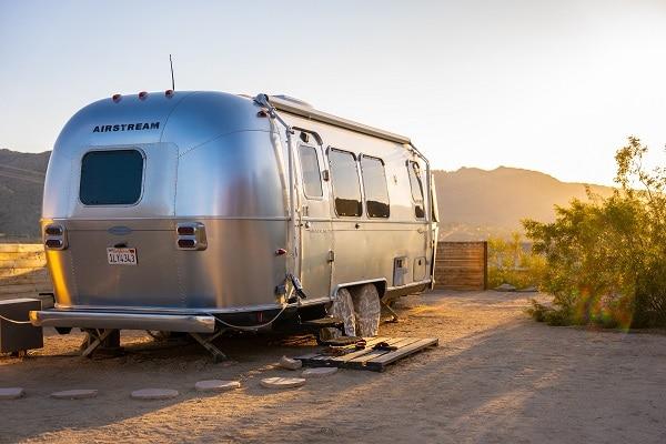 Airstream camping trailer