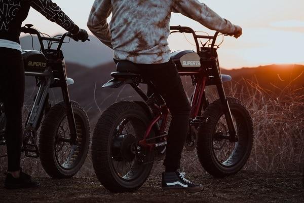 mountain biking with electric bikes