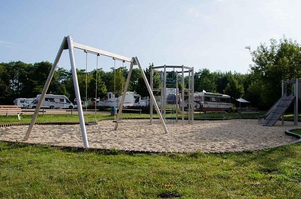 rv campsite with playground